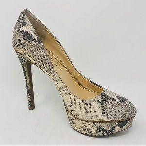 Jessica Simpson snake print high heel